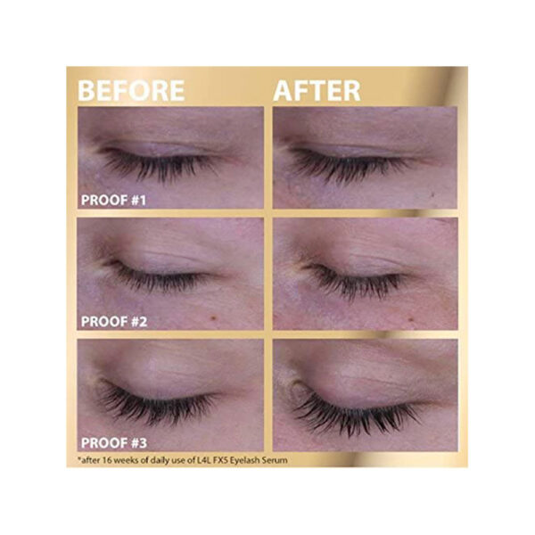 Before after Eyelash Serum by Oceanic